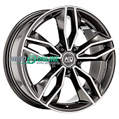 Литой диск MSW 71 8,5x19 5x108 ET 45 Dia 73 (gloss dark grey full polished)