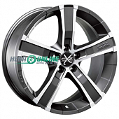 Литой диск OZ Racing Sahara 5 8x18 5x130 ET 43 Dia 71,6 (matt graphite diamond cut)